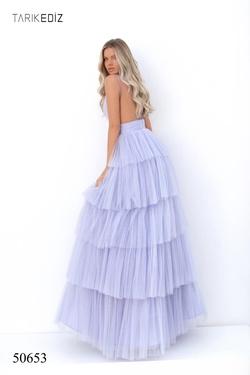 Style 50653 Tarik Ediz Purple Size 2 Tall Height A-line Dress on Queenly