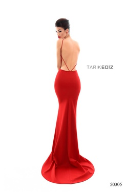 Style 50305 Tarik Ediz Black Size 10 Tall Height Mermaid Dress on Queenly