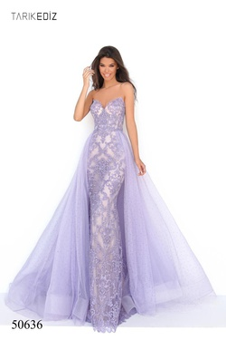 Queenly size 4 Tarik Ediz Purple Mermaid evening gown/formal dress