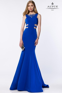 Style 8006 Alyce Paris Royal Blue Size 00 Prom Tall Height Mermaid Dress on Queenly