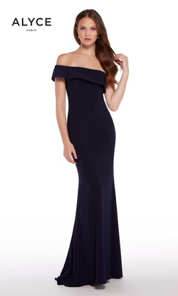 Style 59997 Alyce Paris Blue Size 10 Tall Height Straight Dress on Queenly