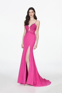 Style 20004 Angela & Alison Pink Size 8 Tall Height Side slit Dress on Queenly