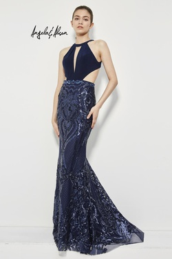 Queenly size 4 Angela & Alison Blue Mermaid evening gown/formal dress