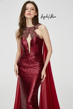Style 81029 Angela & Alison Red Size 4 Pageant Tall Height Mermaid Dress on Queenly