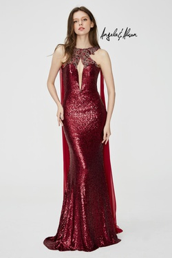 Queenly size 4 Angela & Alison Red Mermaid evening gown/formal dress