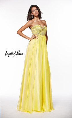 Queenly size 2 Angela & Alison Yellow Straight evening gown/formal dress