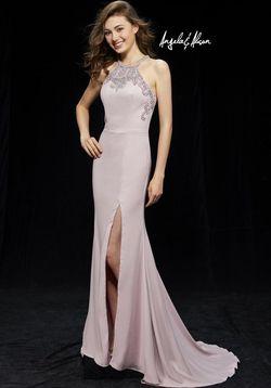 Queenly size 4 Angela & Alison Pink Side slit evening gown/formal dress