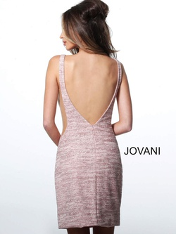 Style 45810 Jovani Light Pink Size 10 Cocktail Dress on Queenly