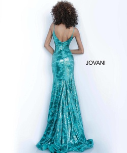 Style 1848 Jovani Green Size 18 Plus Size Tall Height Mermaid Dress on Queenly
