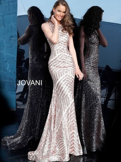 Style 64807 Jovani Gold Size 8 Prom Mermaid Dress on Queenly