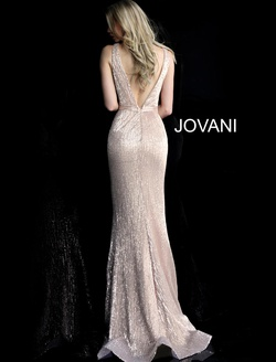 Style 62507 Jovani Gold Size 6 Pageant Prom Straight Dress on Queenly