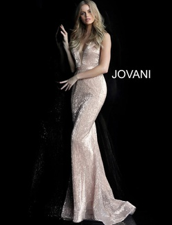 Queenly size 6 Jovani Gold Straight evening gown/formal dress
