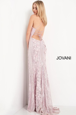 Style 06109 Jovani Light Pink Size 4 Prom Side slit Dress on Queenly