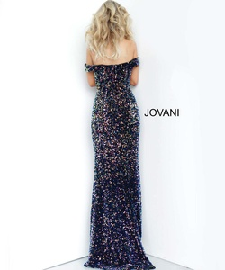 Style 2102 Jovani Multicolor Size 24 Plus Size Pageant Prom Straight Dress on Queenly