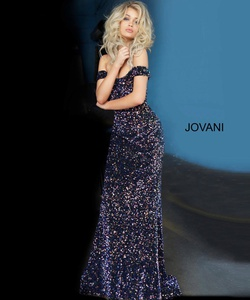 Queenly size 16 Jovani Multicolor Straight evening gown/formal dress