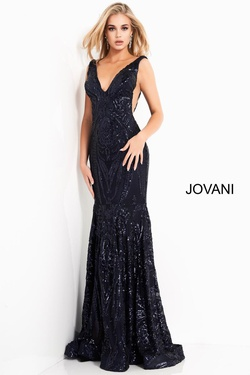 Style 3186 Jovani Blue Size 10 Pageant Prom Mermaid Dress on Queenly