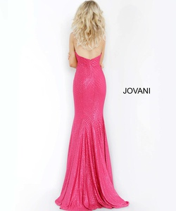 Style 1121 Jovani Pink Size 20 Plus Size Prom Magenta Mermaid Dress on Queenly