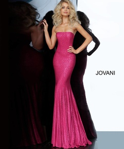 Queenly size 10 Jovani Pink Mermaid evening gown/formal dress