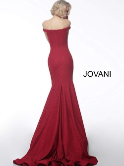 Style 55187 Jovani Red Size 0 Prom Tall Height Mermaid Dress on Queenly