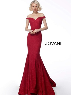Queenly size 8 Jovani Red Mermaid evening gown/formal dress