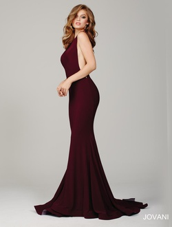 Style 37592 Jovani Red Size 2 Train Tall Height Mermaid Dress on Queenly