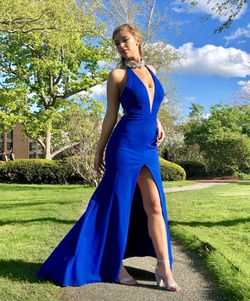 Queenly size 6  Blue Side slit evening gown/formal dress