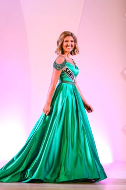 Sherri Hill Green Size 2 Belt Mini Ball gown on Queenly