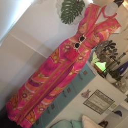 Betsey Johnson Multicolor Size 6 Tall Height Jumpsuit Dress on Queenly