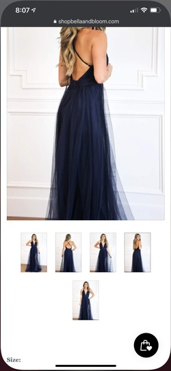 Blue Size 6 Straight Dress on Queenly