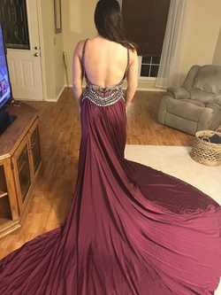 Mac Duggal Purple Size 4 Pageant Prom Train Dress on Queenly