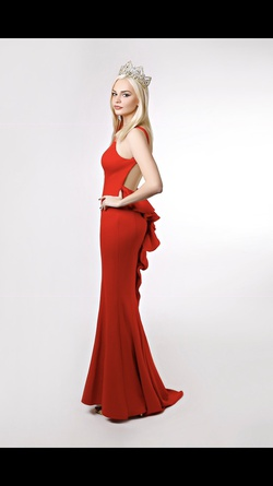 Xscape Red Size 2 Pageant A-line Dress on Queenly