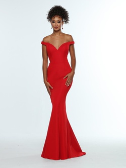 Queenly size 12 Zoey Grey Red Mermaid evening gown/formal dress