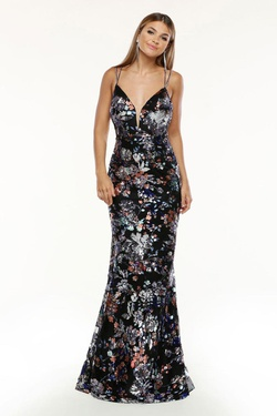 Queenly size 6 Zoey Grey Multicolor Mermaid evening gown/formal dress
