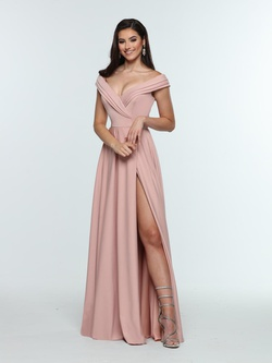 Queenly size 20 Zoey Grey Pink Side slit evening gown/formal dress