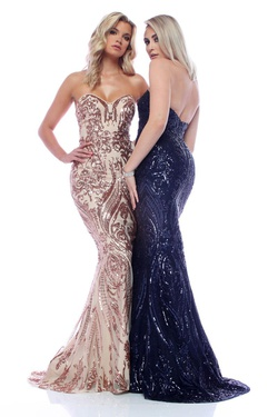 Queenly size 20 Zoey Grey Blue Mermaid evening gown/formal dress
