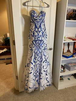 Queenly size 0 Alyce Paris Blue Mermaid evening gown/formal dress