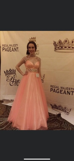 Mac Duggal Orange Size 4 Pageant Prom Ball gown on Queenly
