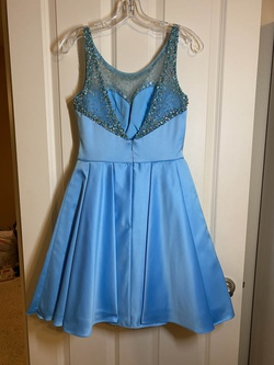 Sherri Hill Light Blue Size 4 Cocktail Dress on Queenly