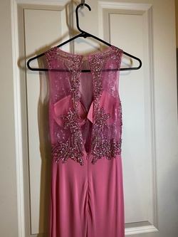 Mori Lee Pink Size 0 Sheer Mermaid Dress on Queenly