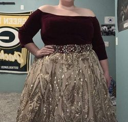 Mac Duggal Multicolor Size 26 Plus Size Sequin Ball gown on Queenly