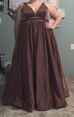 Tease prom Pink Size 24 Sheer Ball gown on Queenly