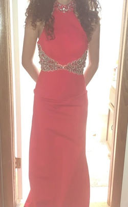 Sherri Hill Red Size 2 Straight Dress on Queenly