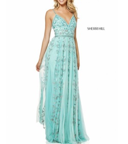 Queenly size 00  Blue Straight evening gown/formal dress