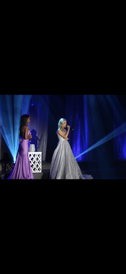 Portia and Scarlett Silver Size 2 Tall Height Ball gown on Queenly