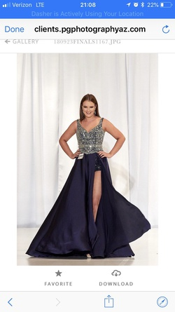 Queenly size 6  Blue Jumpsuit evening gown/formal dress