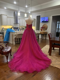 Custom Pink Size 6 Train Tall Height Ball gown on Queenly