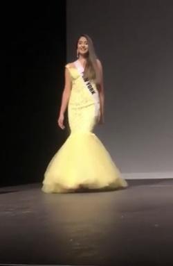 Tarik Ediz Yellow Size 8 Pageant Prom Mermaid Dress on Queenly