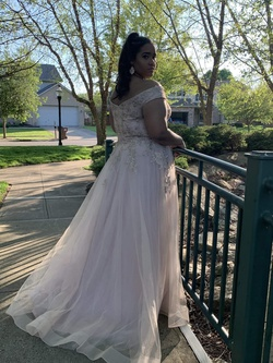 La Femme Nude Size 18 Prom Ball gown on Queenly