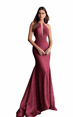 Queenly size 14 Jovani Red Straight evening gown/formal dress