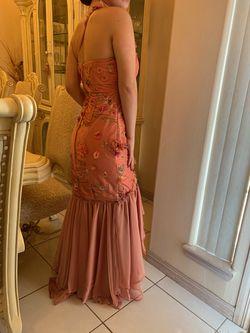 Orange Size 4 Side slit Dress on Queenly
